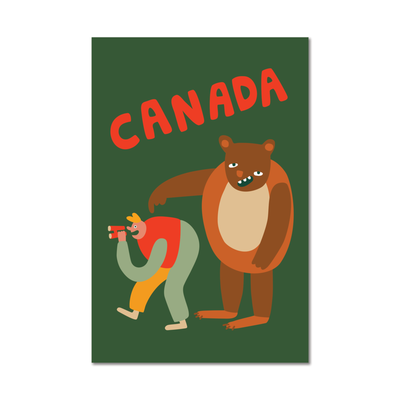 Paperole Carte Postale - Grizzly