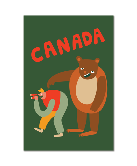 Paperole Grizzly - Carte postale