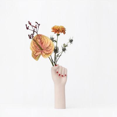 DOIY Small Girl Power White Vase