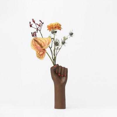 DOIY Small Girl Power Black Vase