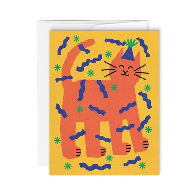 Paperole Greeting Card - Kitty