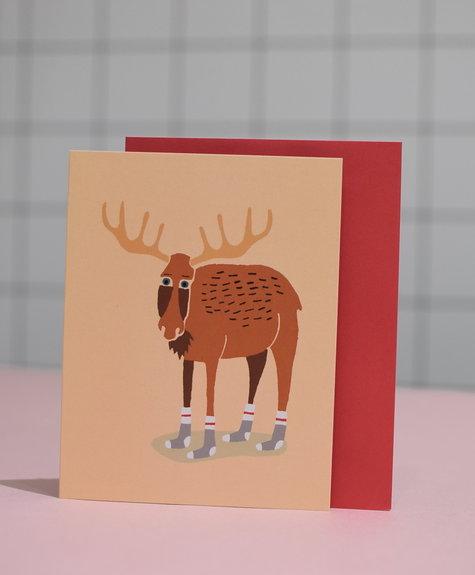Paperole Greeting Card - Wool Socks