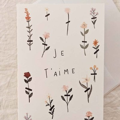 Mimi - Auguste Greeting Card - I love you Flowers