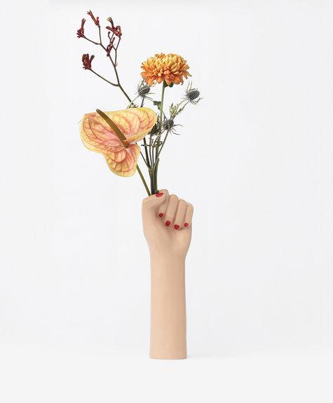 DOIY Vase girl power L - Brun