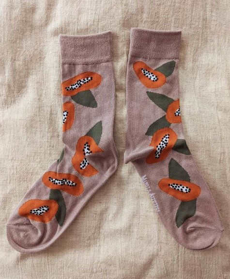 Mimi - Auguste Mimi Socks - Papaya