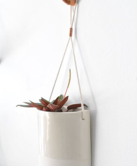Bar à Plantes Half Moon Planter - Plain White