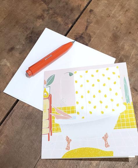 Atelier Marthes Bain d'été - Carte de souhaits