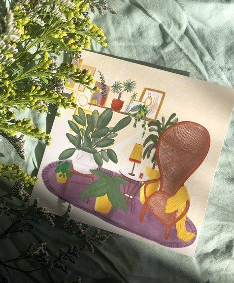 Atelier Marthes Relax corner - Wish card