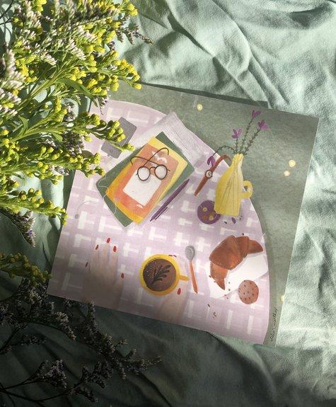 Atelier Marthes Co-snacking - Carte de souhaits