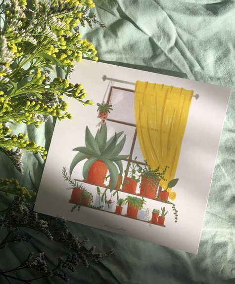 Atelier Marthes The plant corner - Wish card