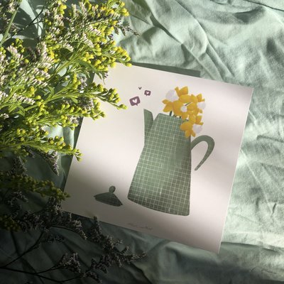 Atelier Marthes Pitcher and daffodils