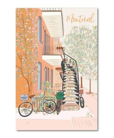 Lili Graffiti Montreal in fall- Postcard