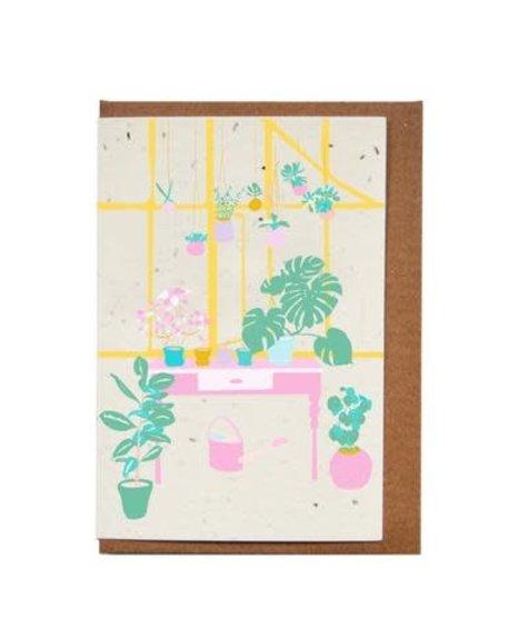 Lili Graffiti Plante (ensemencé) - Carte de souhaits