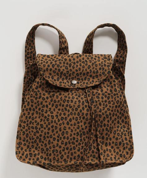 Baggu Baggu Backpack - Nutmeg Leopard