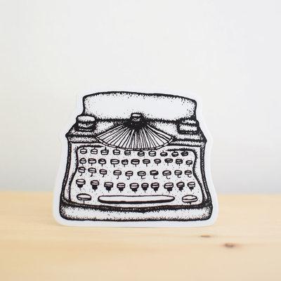 Sticker NW Machine à écrire