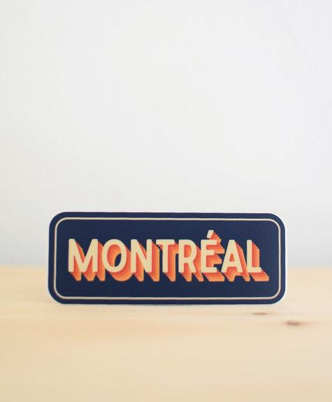 Sticker NW Sticker Montréal (bleu)