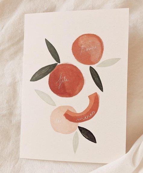 Mimi - Auguste Bonne fête des mères citrus - Greeting card