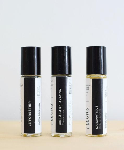 Femme Fleurs Parfum à bille aromathérapie - (Détente émotionnelle)