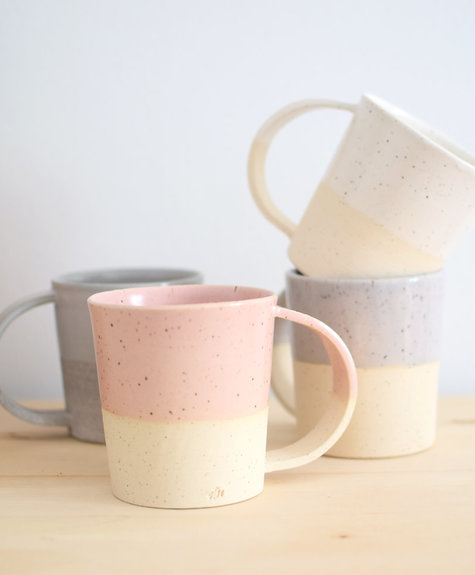 Maison Stoï Natural clay cup - Grey/white