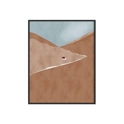 Citron Miel Affiche - Toit rouge (20x25 cm)