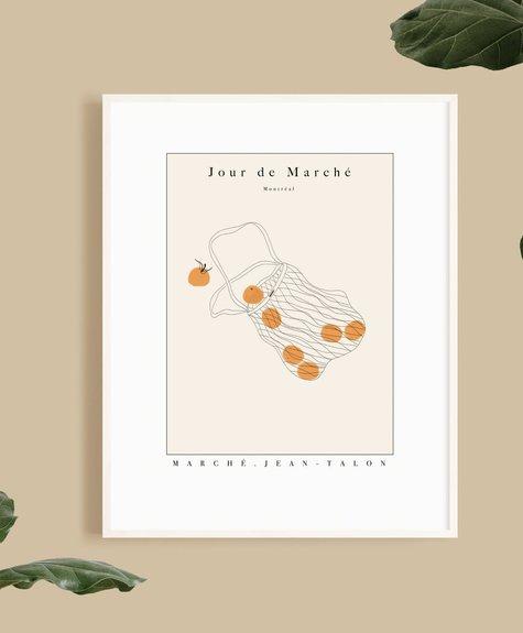 Citron Miel Affiche - Jour de Marché 8*10 (20x25cm)