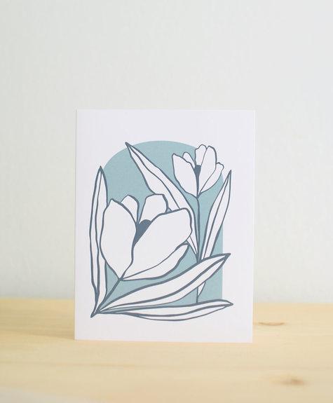 Les Paquetteries Duo floral - Carte