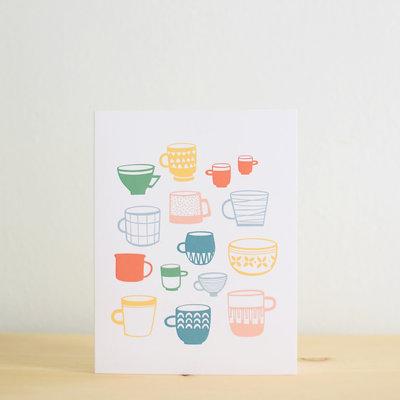 Les Paquetteries Multicolor mugs - Card