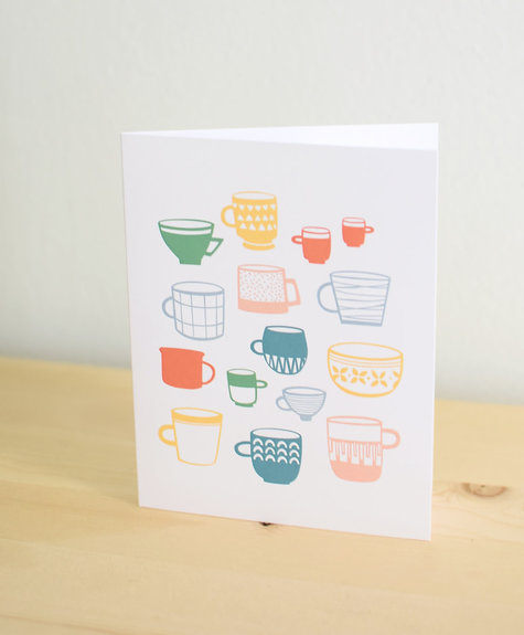 Les Paquetteries Multicolor mugs - Card