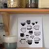 Les Paquetteries Poster cups  - Black and White