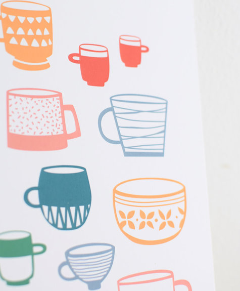 Les Paquetteries Poster cups  - Multicolored