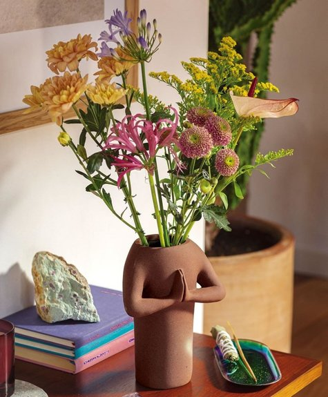 DOIY Vase Namaste - Brun