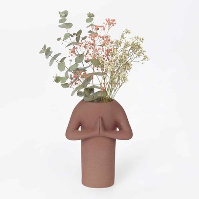 DOIY Namaste vase - Brown