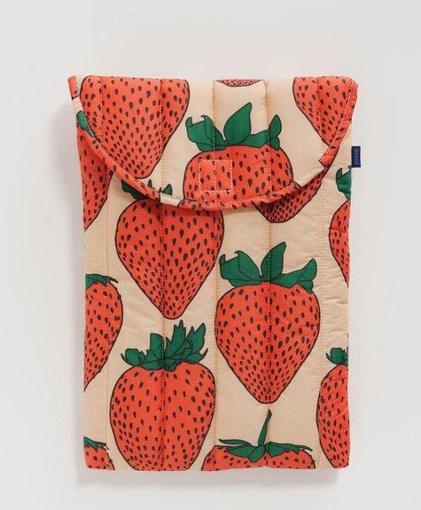 Baggu Laptop Sleeve - Strawberries