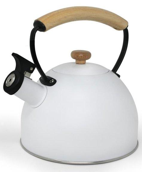 Danesco Bouilloire à sifflet - Blanc