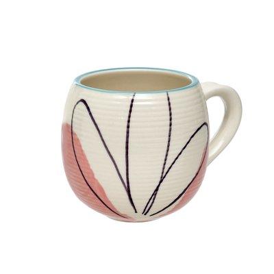 Indaba Matisse Mug Blue Rim