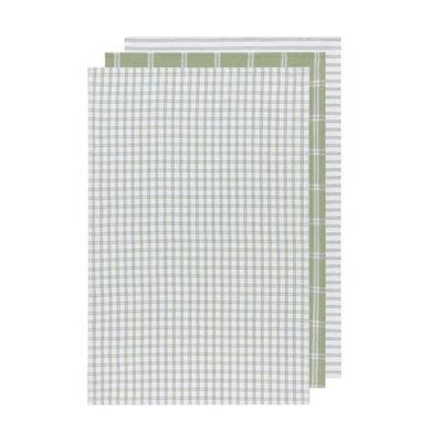 Danica Dish Towels - Tictactoe sage green