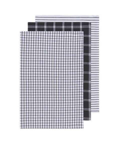Danica Dish Towels - Tictactoe Black