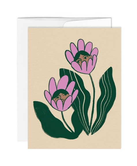 Paperole Greeting card - Coucou