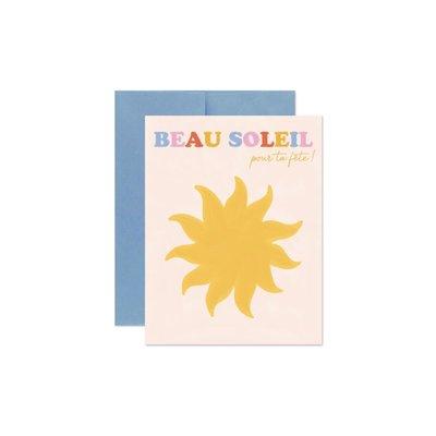 Marlone Carte souhaits - Beau soleil