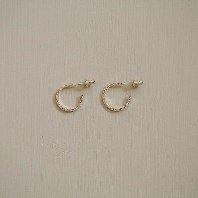 Côte Ouest Gold hoops earrings