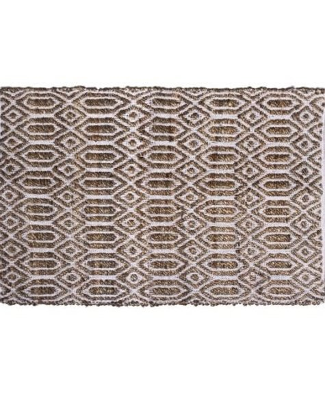 Gajmoti 24x36 Rectangular rug - Jute and cotton