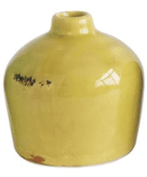 Creative Co-op Vintage vase - Yellow