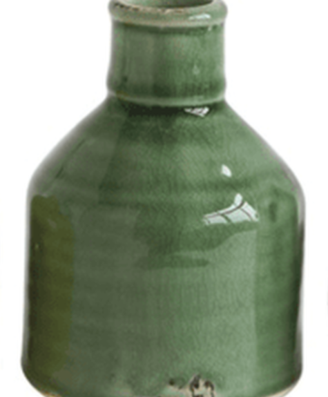 Creative Co-op Vintage vase - Moss green