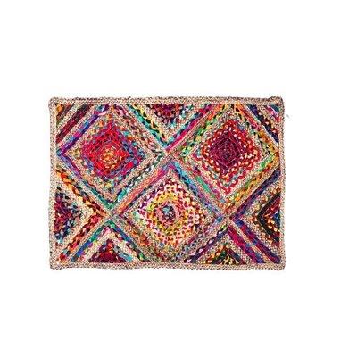 Gajmoti Rectangular rug - Multicolor jute