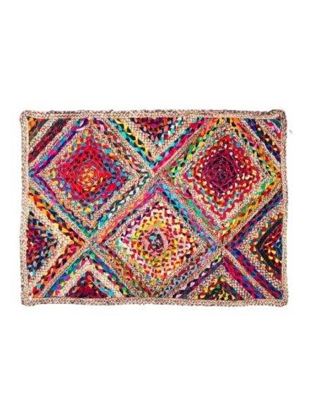 Gajmoti 24x36 Rectangular rug - Multicolor jute
