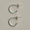Côte Ouest Silver split hoops earrings - Côte Ouest