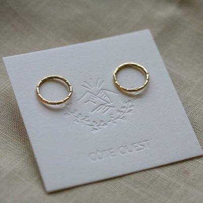 Côte Ouest Circle earrings - Brass