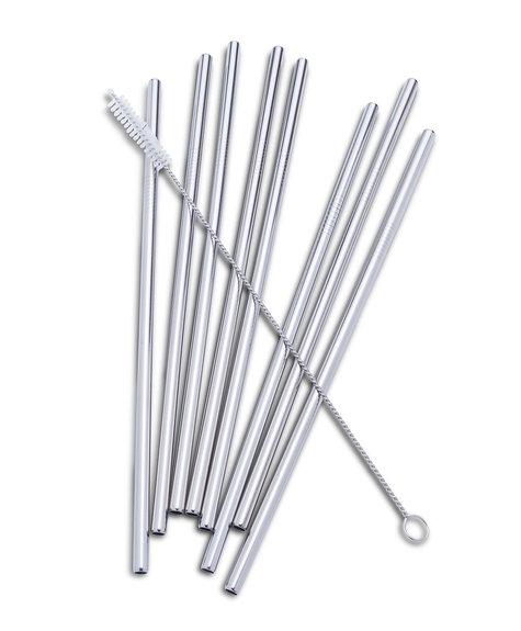 Abbott Paille métal droite (1) - Argent