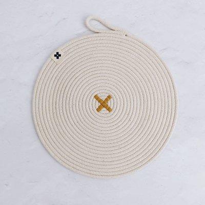 Ten and Co Cotton trivet - Ochre