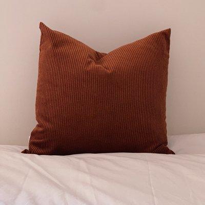 À la maison co Corduroy Cushion - Rust